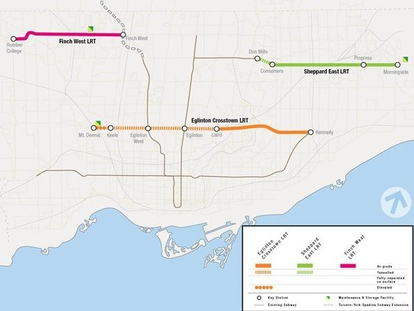 Toronto Transit Plan Map