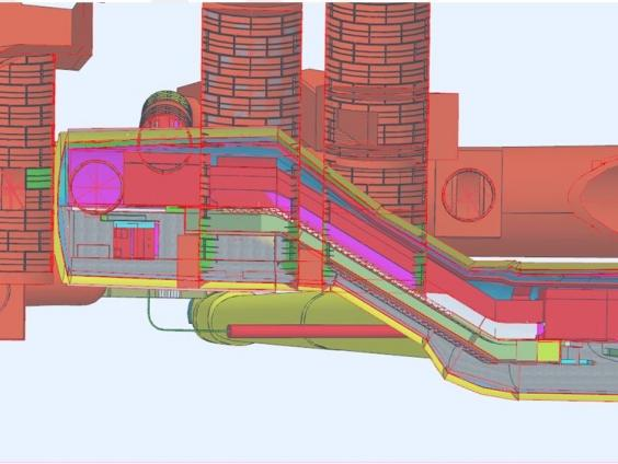 3D pdf cut for escalator 4, including new and existing assets upon completion